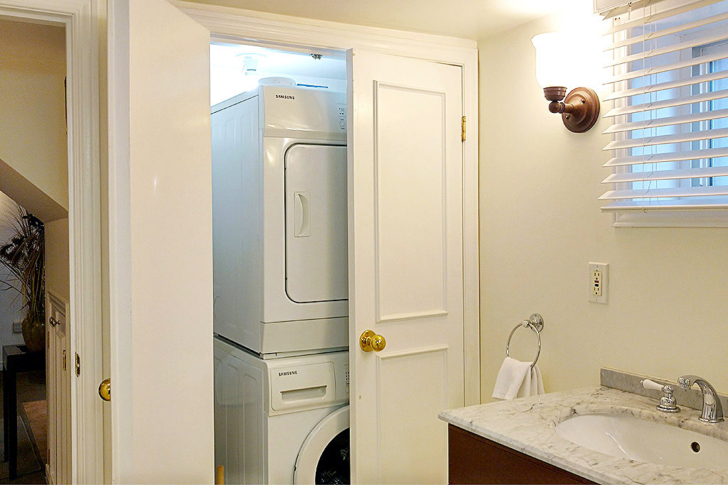 In-suite laundry in Emerson House #2, 1445 Caroline Street, Burlington furnished rental